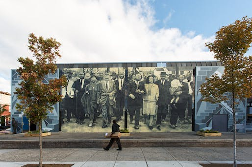 Staircases and Mountaintops: Ascending Beyond the Dream by Willis Humphrey. (Photo: Steve Weinik/Courtesy of the City of Philadelphia Mural Arts Program; Image via npr.org)