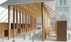 Shigeru Ban pitches paper tube chapel as temporary Notre Dame replacement