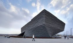 New drone video shows off Kengo Kuma's soon to open V&A Dundee Museum
