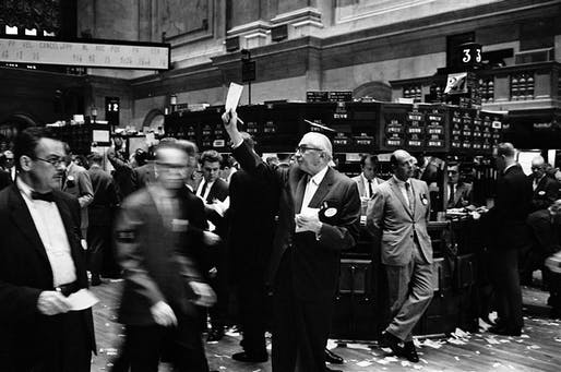 The New York Stock Exchange trading floor. Image courtesy of the Library of Congress / Thomas J. O'Halloran.