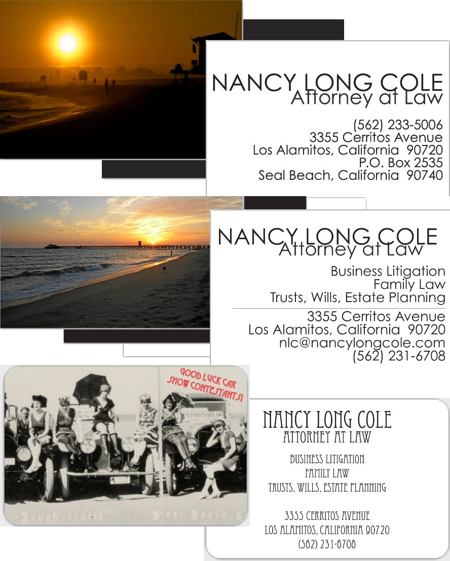 Graphic design examples betsy jean cole archinect business cards for attorney nancy long cole magicingreecefo Choice Image