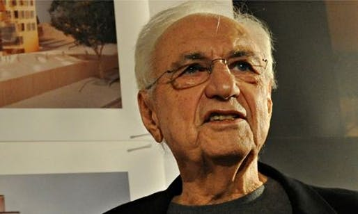 Frank Gehry said he had no power to insist on inclusion of affordable homes in development. (Photograph: Torsten Blackwood/AFP/Getty Images )