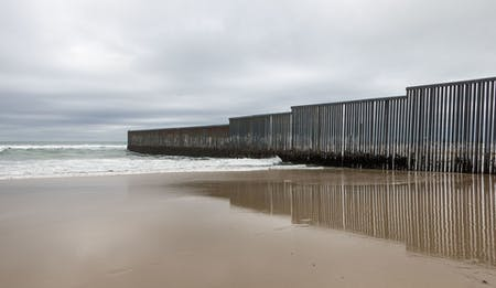U.S./Mexico border fence in Tijuana. Image: Wikipedia