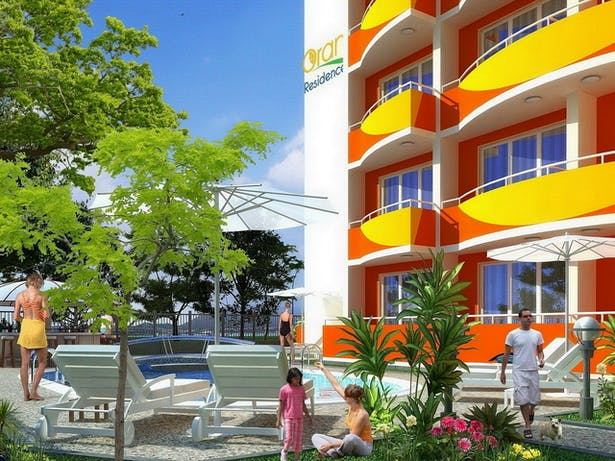 """Complex Of Holiday Apartments """"ORANGE Residence"""" - visualization close view"""