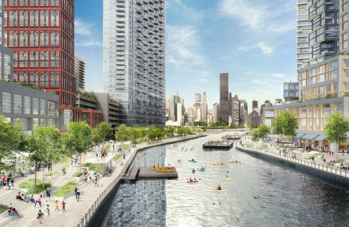 anable basin proposal envisions a massive mixed use district along the long island city. Black Bedroom Furniture Sets. Home Design Ideas