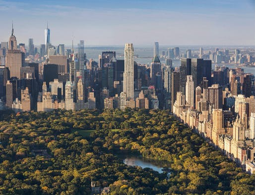Rendering of the Robert A.M. Stern-designed 220 Central Park South tower, which opened in 2018.