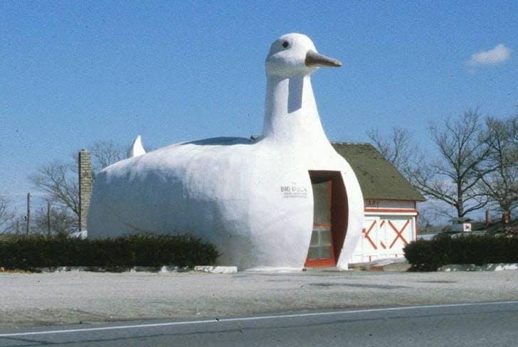 'The Big Duck' in Flanders, New York, which inspired Venturi and Scott Brown. Image via wikimedia.org