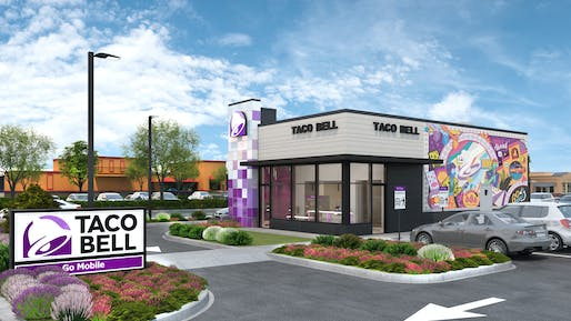 Rendering of the new Taco Bell Go Mobile concept. Image: Taco Bell.