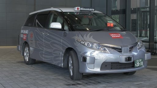 The RoboCar MiniVan trial vehicle is a modified Toyota Sienna and takes fare-paying passengers on round-trips between Tokyo's Otemachi and Roppongi districts. Image: ZMP.