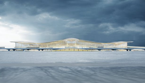 Yantai International Airport Terminal 2, Yantai, China, by Aedas