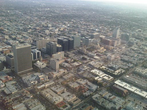 "Aerial view of Los Angeles. Image courtesy of <a href=""https://www.flickr.com/photos/feculent_fugue/6190964988""> Photo via Flickr user Vicente A.</a>"