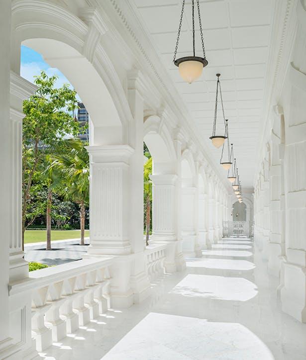 Colonnaded Walkway, Photo by Raffles Hotel