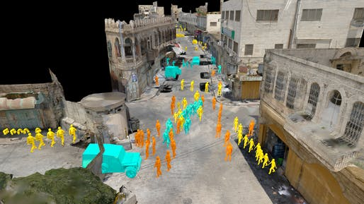 Shown: Virtual Witnesses: Assembling the Testimonial Space of Israeli Violence (2020). Image courtesy of Forensic Architecture.