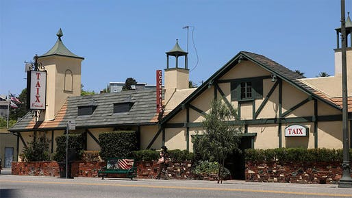 """The exterior of Taix Restaurant as viewed from Sunset Boulevard. Photo via the <a href=""""https://www.gofundme.com/f/friends-of-taix"""">Friends of Taix GoFundMe campaign</a>."""