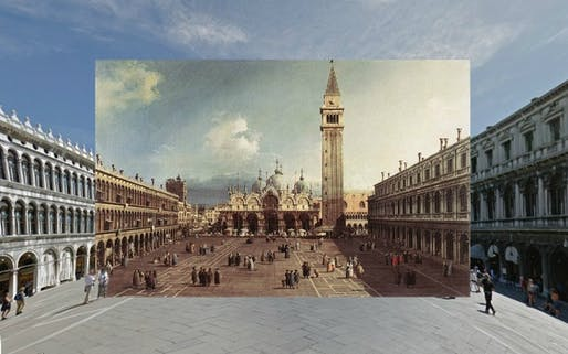 Venice, according to Canaletto and Google Street View (shystone; via The Atlantic)