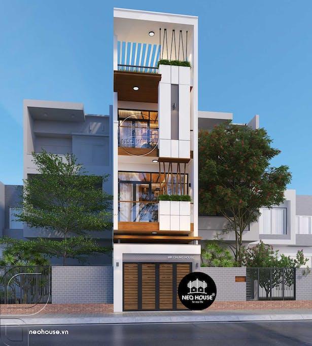 Mẫu thiết kế nhà phố hiện đại 3 tầng tại tphcm thumbnail