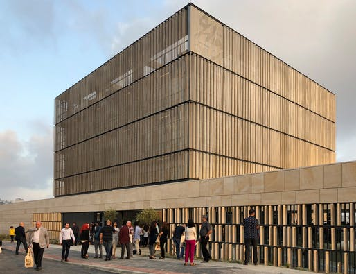 The new Qattan Foundation arts center in Ramallah. Photo credit: Oliver Wainwright for The Guardian.