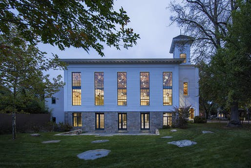The Church adaptive reuse project in Sag Harbor, NY by SKOLNICK Architecture + Design Partnership. Photo courtesy SKOLNICK Architecture + Design Partnership.