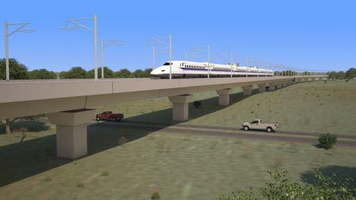 The backers of the Houston-Dallas HSR route aim to break ground in 2020, per approvals from the Federal government. Image courtesy of Texas Central.