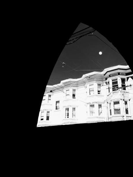 Moonrise through Gothic Arch