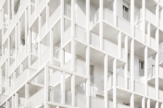 Croisset Social Housing by Hardel Le Bihan Architectes, located in Paris. © Schnepp Renou
