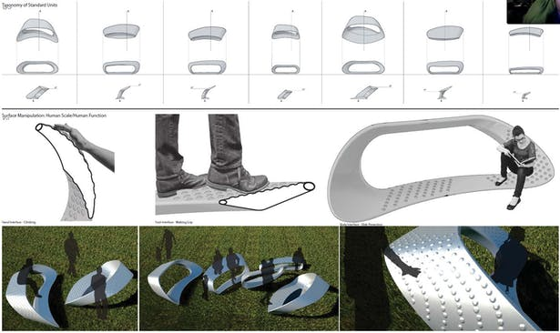Taxonomy of benches, Surface Details, and Renders