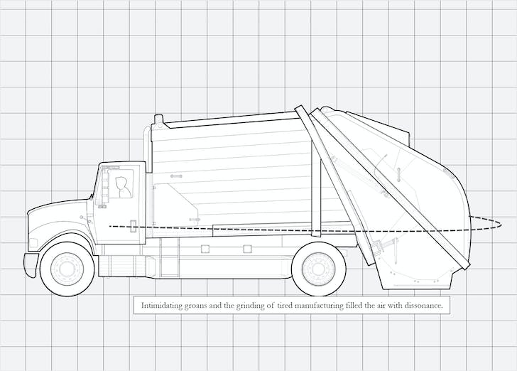 'Garbage Truck Ortho.' Image: Architecture Hero