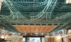 Freeland Buck's alluring ceiling installation draws the public to look up