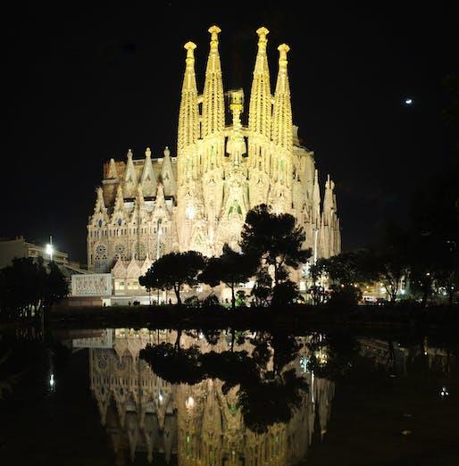 The Basílica de la Sagrada Familia by Antoni Gaudi