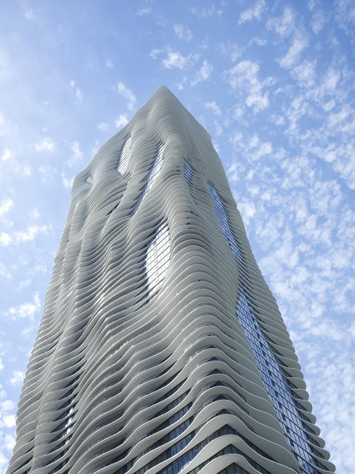 Aqua Tower by Studio Gang. Photo: Steve Hall © Hedrich Blessing.
