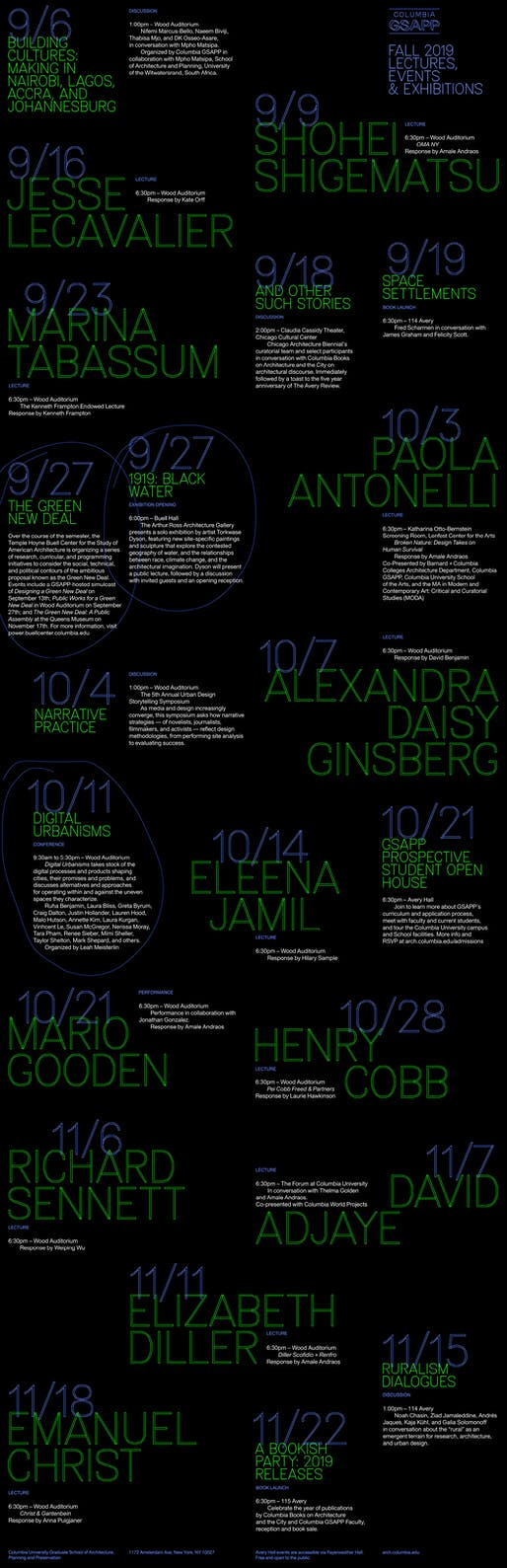Poster courtesy of Columbia GSAPP.