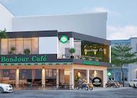Mẫu thiết kế nội thất quán cafe sân thượng xu hướng mới 2019