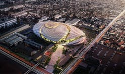 AECOM's basketball net-inspired designs for a new Los Angeles Clippers arena are unveiled