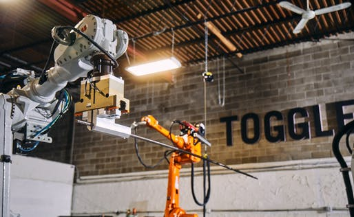 Automated rebar assembly at Toggle's New York Headquarters. Image: Toggle