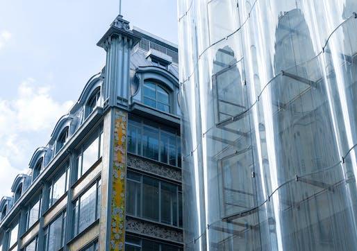 Old meets new at the reopened La Samaritaine department store in Paris. © Pierre-Olivier Deschamps via SANAA.