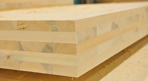 Cross-laminated timber (CLT) building material. Image: TheLens.