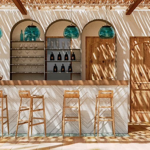 "<a href=""https://archinect.com/MadoSamiouArchitecture/project/caomma-beach-bar-syros-cyclades-greece"">Caomma Beach Bar</a> in Syros, Greece by <a href=""https://archinect.com/MadoSamiouArchitecture"">Mado Samiou Architecture</a> in collaboration with Xenos Design"