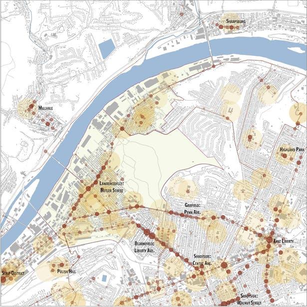 City analysis: activity nodes