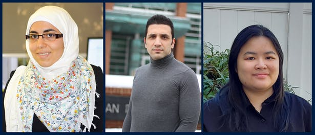 L-R: Dima Abu-Aridah, Ali Ghazvinian, Tiffanie Leung