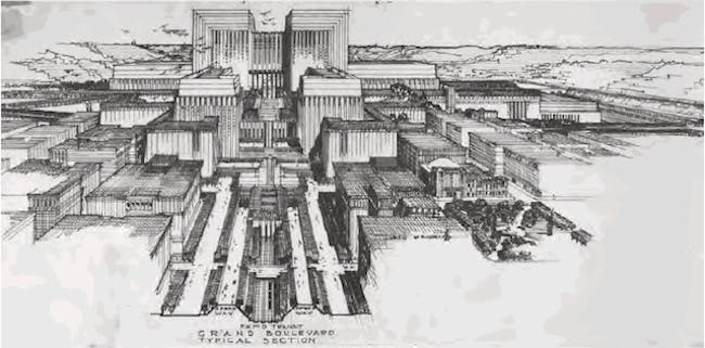 Lloyd Wright's 1925 'Civic Center Plan' for Downtown L.A.