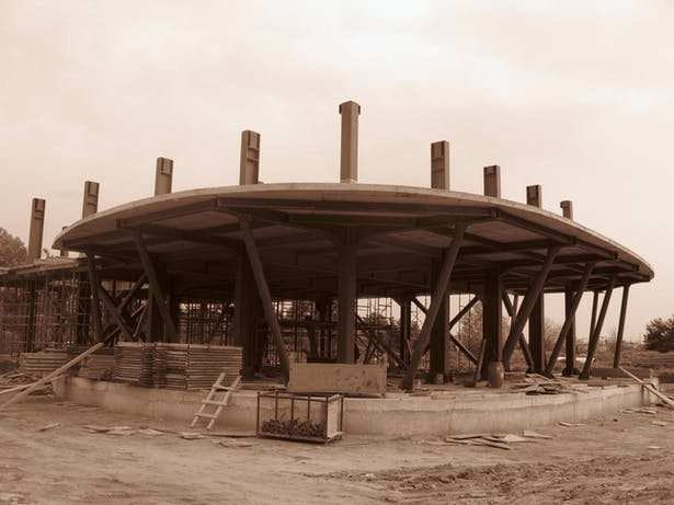 during the construction