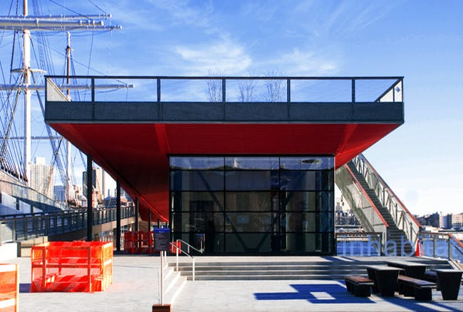 The newly-opened Pier 15, designed and built by SHoP Architects, on New York City's East River Waterfront Esplanade