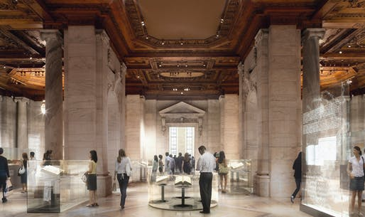 A conceptual design of Gottesman Exhibition Hall at the New York Public Library (Image: dbox branding & creative)