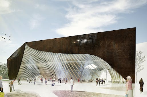Rendering of the Helsinki Central Library entry LIBLAB by Playa Architects (Image: Playa Architects)