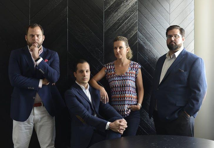 (L-R) Giancarlo Pietri, Sebastian Velez, Justine Velez, and JJ Wood. Image courtesy of Urban Robot Associates