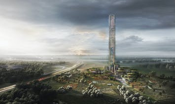 Denmark may soon have its own remotely located tall tower in new mixed-use HQ, designed by Dorte Mandrup