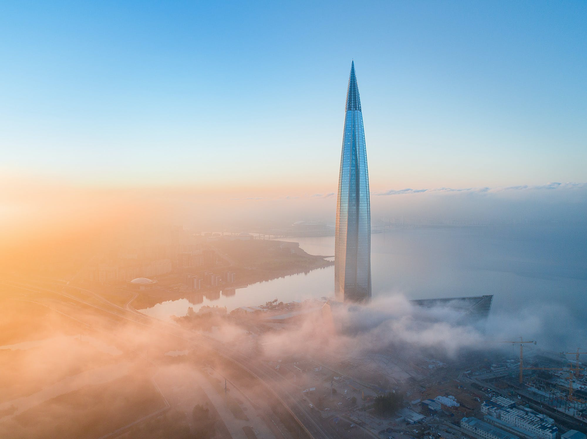 Lakhta Center, Europe's new tallest skyscraper, now officially commissioned | News | Archinect