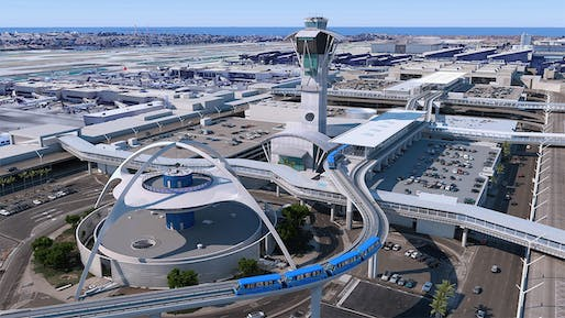 Rendering of the under-construction Automated People Mover at Los Angeles International Airport.