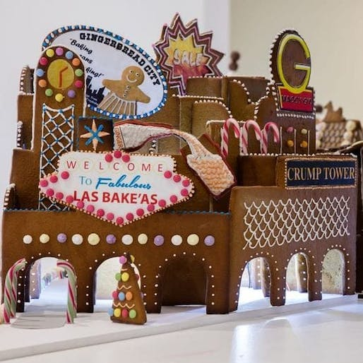 Image: Platform 5 Architects' contribution to 2016's Gingerbread City. Photo by Luke Hayes