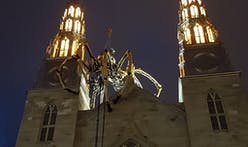 "A giant robotic spider climbed around a cathedral in Ottawa, and local Catholics called it ""demonic"""